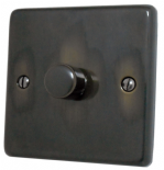 Standard Plate Aged Brass Dimmer Switches